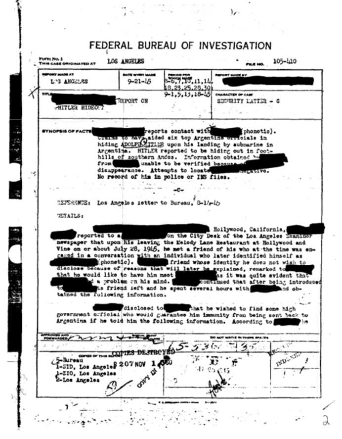 Document declasificat! FBI recunoaste ca Hitler traieste si a fugit in Argentina!2