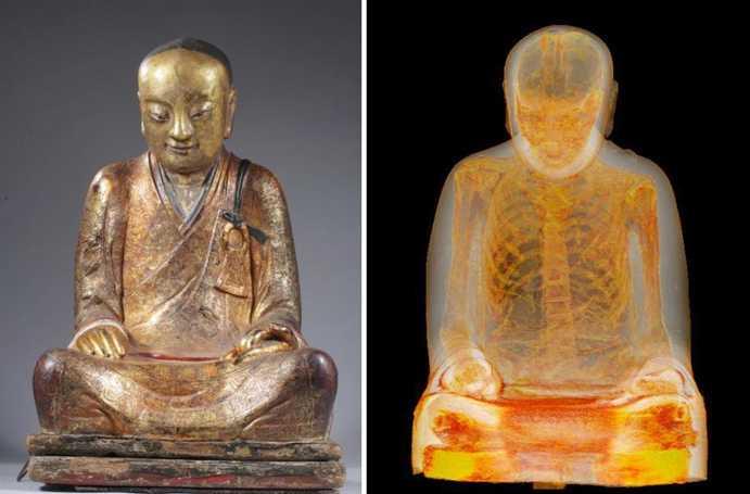 Statuia lui Buddha a fost scanata in intregime! Este INCREDIBIL ce au gasit in in2