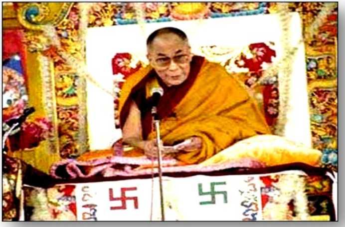 Dalai Lama svastica
