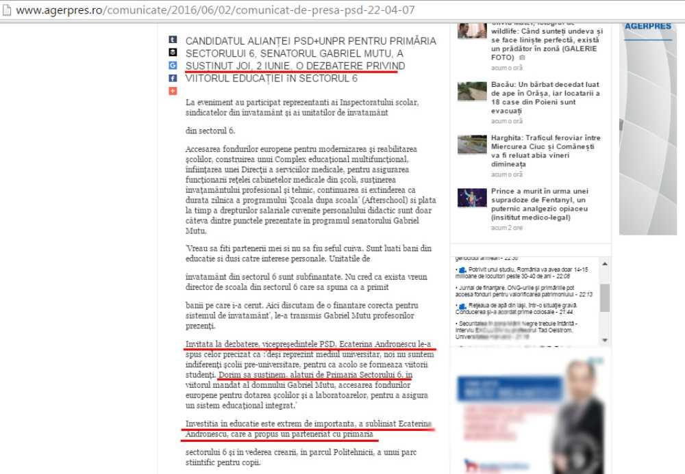 ecaterina andronescu sector 6 minciuni 2